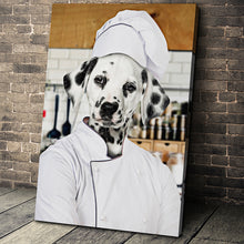 Load image into Gallery viewer, The Chef Custom Pet Portrait Canvas - Noble Pawtrait