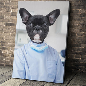 The Dentist Custom Pet Portrait Canvas - Noble Pawtrait