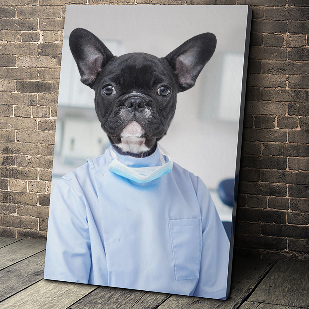 The Dentist Custom Pet Portrait - Noble Pawtrait