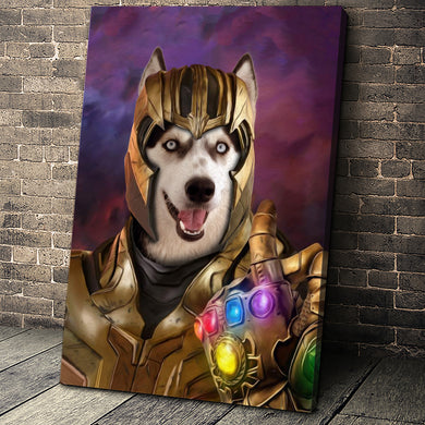The Destroyer Custom Pet Portrait Canvas - Noble Pawtrait