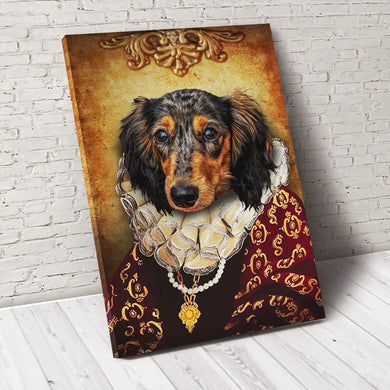 The Duchess Custom Pet Portrait Canvas - Noble Pawtrait
