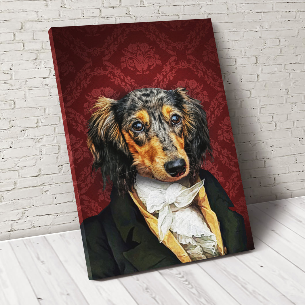 The Duke Custom Pet Portrait Custom Canvas - Noble Pawtrait
