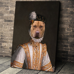 The Princess Custom Pet Portrait Canvas - Noble Pawtrait