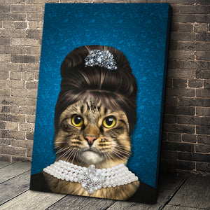 The Elegant Madam Custom Pet Portrait Canvas - Noble Pawtrait