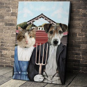 The Farmers Custom Pet Portrait Canvas - Noble Pawtrait