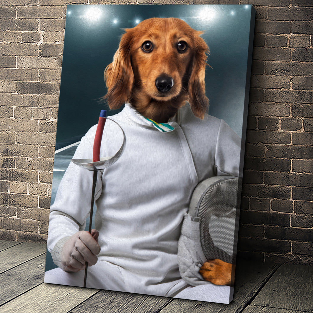 The Fencer Custom Pet Portrait - Noble Pawtrait