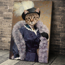 Load image into Gallery viewer, The Foxy Lady Custom Pet Portrait Canvas - Noble Pawtrait