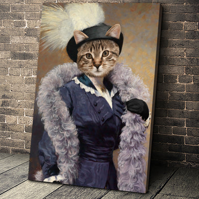 The Foxy Lady Custom Pet Portrait Canvas - Noble Pawtrait