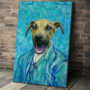 The Impasto Custom Pet Portrait Canvas - Noble Pawtrait