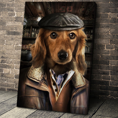 The Industrial Man Custom Pet Portrait Canvas - Noble Pawtrait
