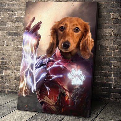 The Machina Custom Pet Portrait Canvas - Noble Pawtrait