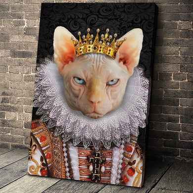 The Monarch Custom Pet Portrait Canvas - Noble Pawtrait