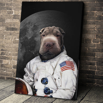 The Moon Walker Custom Pet Portrait - Noble Pawtrait