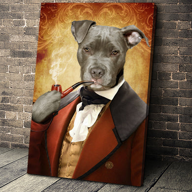 The Novelist Custom Pet Portrait - Noble Pawtrait