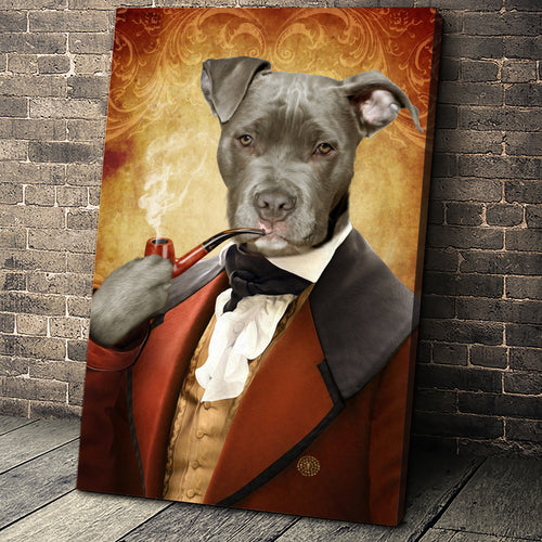 The Novelist Custom Pet Portrait Canvas - Noble Pawtrait