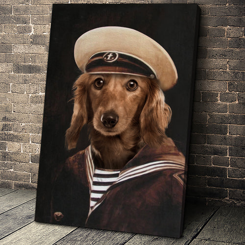 The Old School Sailor Custom Pet Portrait - Noble Pawtrait