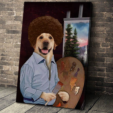 The Painter Custom Pet Portrait - Noble Pawtrait