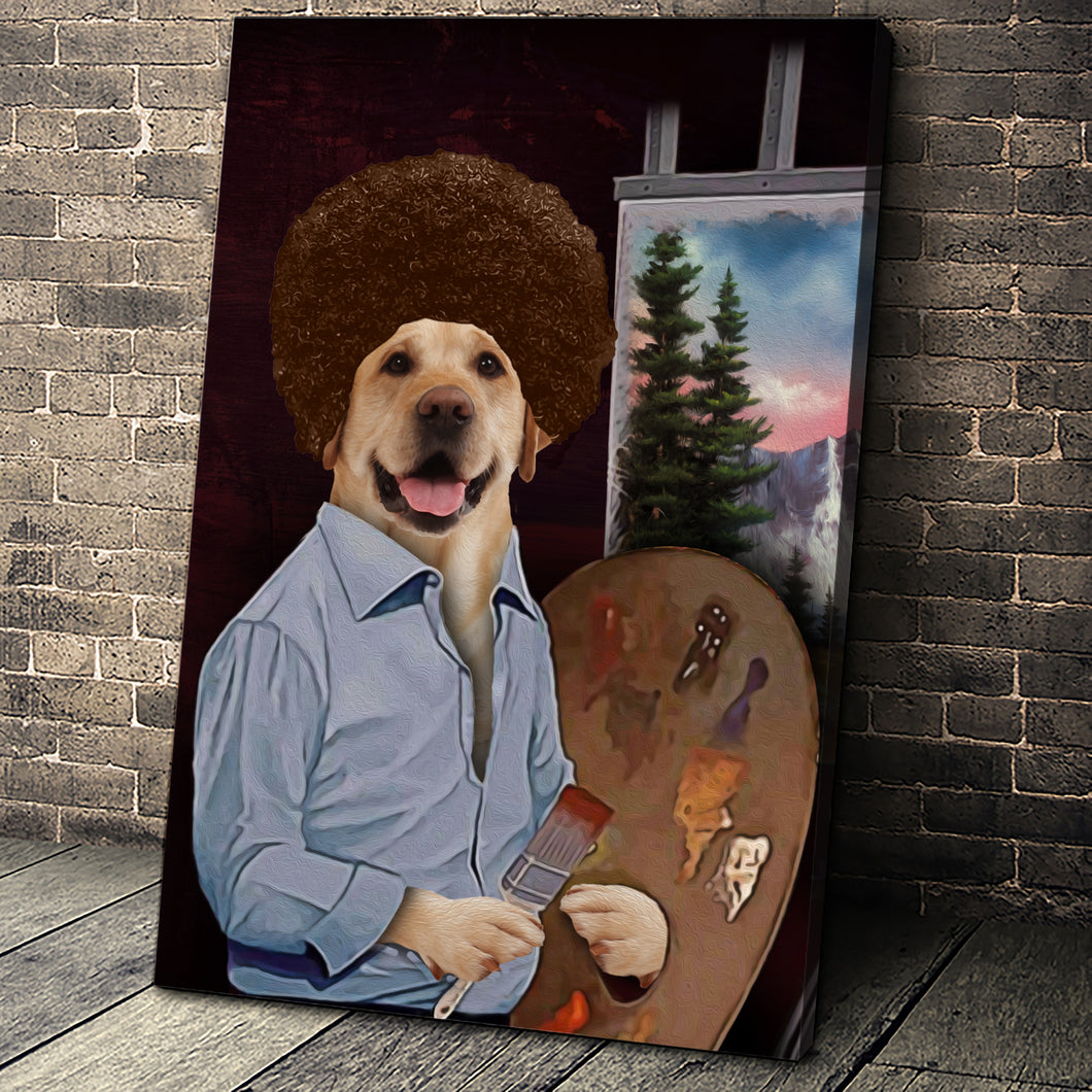 The Painter Custom Pet Portrait Canvas - Noble Pawtrait
