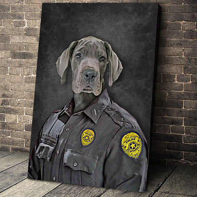 The Police Custom Pet Portrait - Noble Pawtrait