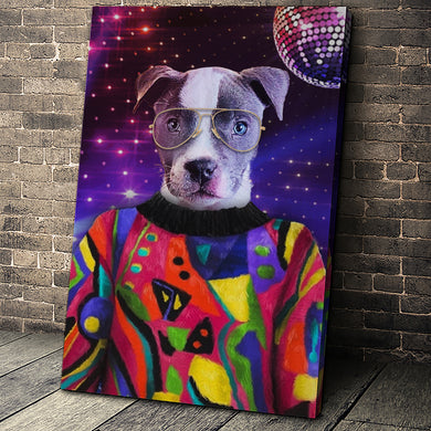 The Pop Star Custom Pet Portrait - Noble Pawtrait