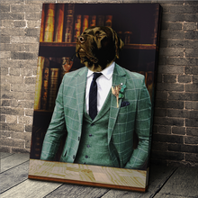 Load image into Gallery viewer, The Gentleman Custom Pet Portrait - Noble Pawtrait