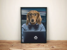 Load image into Gallery viewer, The Programmer Custom Pet Portrait - Noble Pawtrait
