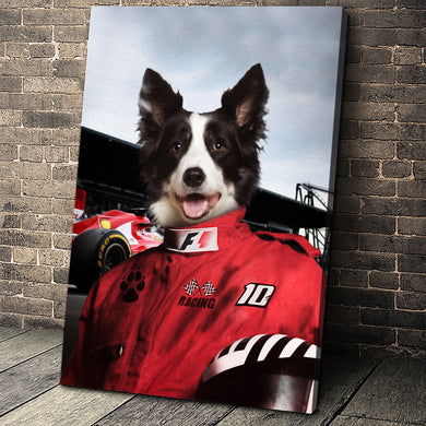 The Racer Custom Pet Portrait - Noble Pawtrait