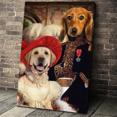 The Royal Couple Custom Pet Portrait - Noble Pawtrait
