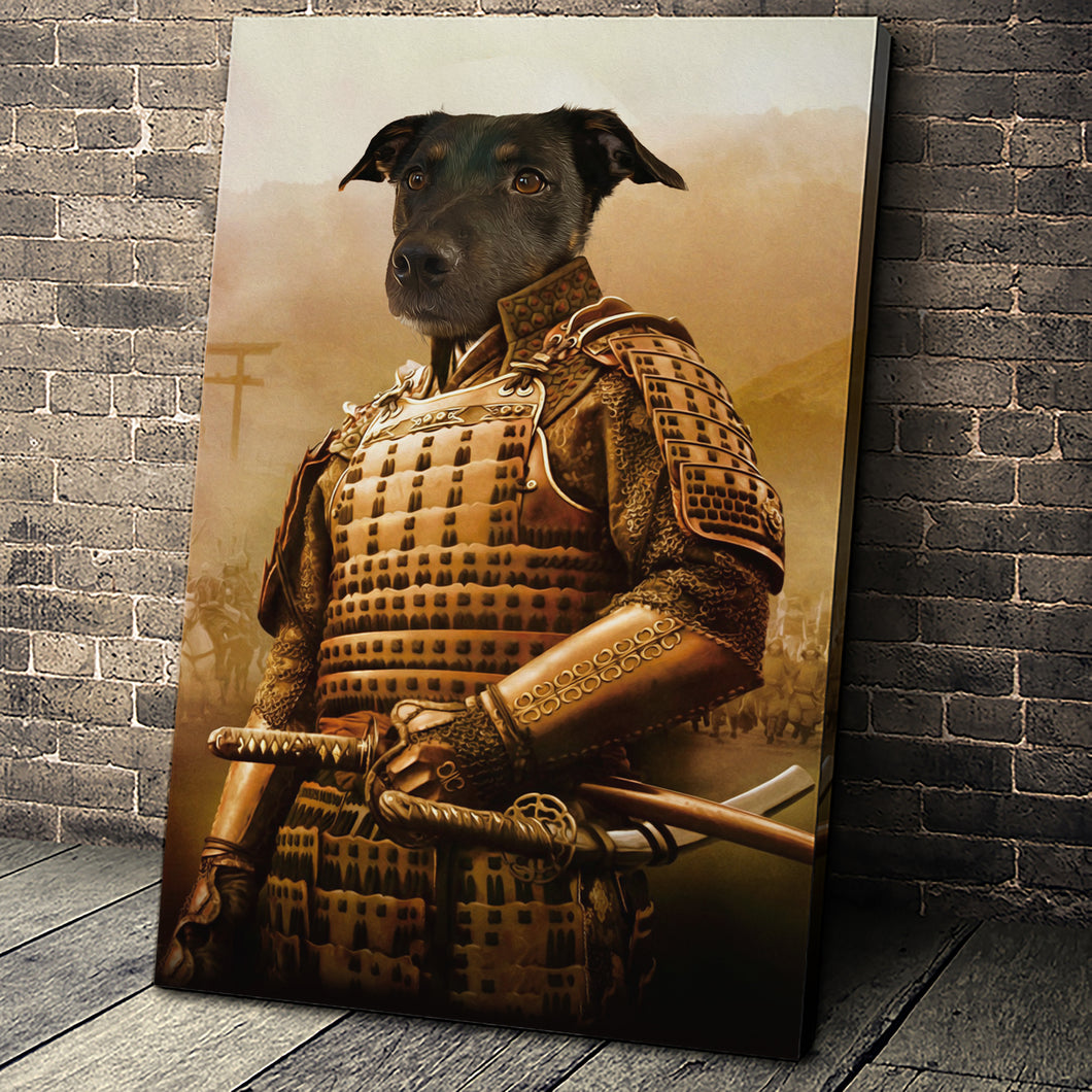 The Samurai Custom Pet Portrait - Noble Pawtrait