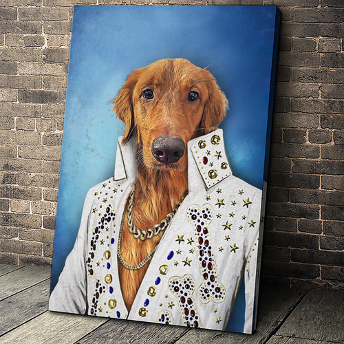 The Singer Custom Pet Portrait - Noble Pawtrait