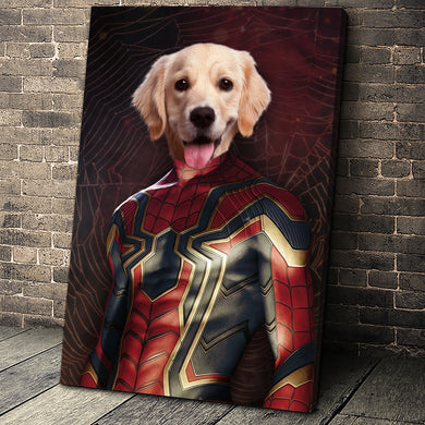 The Spider Paw Custom Pet Portrait Canvas - Noble Pawtrait