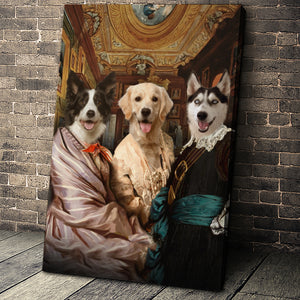 The Triplet Custom Pet Portrait Canvas - Noble Pawtrait