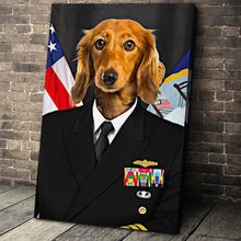 Load image into Gallery viewer, The US Navy Custom Pet Portrait Canvas - Noble Pawtrait