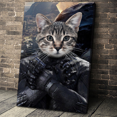The Wakadian Custom Pet Portrait Canvas - Noble Pawtrait