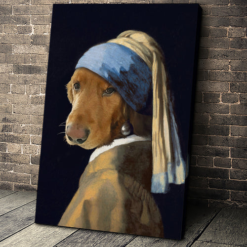 The Woman Custom Pet Portrait - Noble Pawtrait