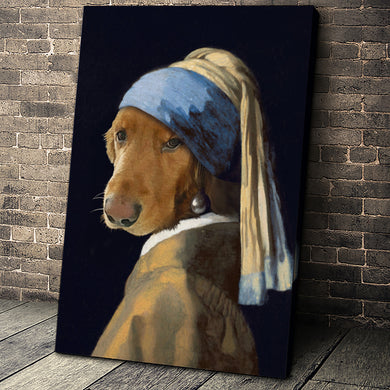 The Woman Custom Pet Portrait Canvas - Noble Pawtrait