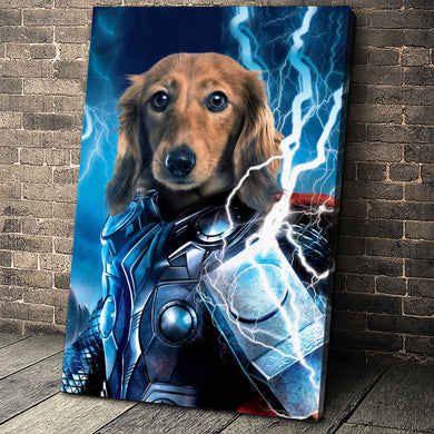 The Thunder Paw Custom Pet Portrait Canvas - Noble Pawtrait