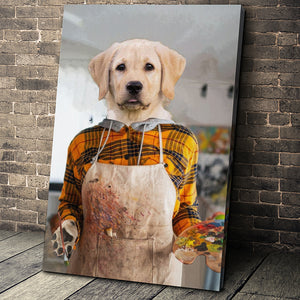The Artist Custom Pet Portrait - Noble Pawtrait