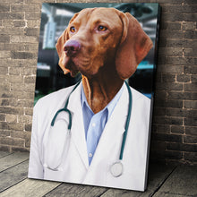 Load image into Gallery viewer, The Doctor Custom Pet Portrait - Noble Pawtrait