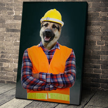Load image into Gallery viewer, The Engineer Custom Pet Portrait Canvas - Noble Pawtrait