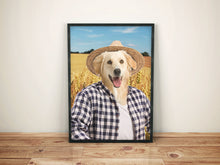 Load image into Gallery viewer, The Farmer Custom Pet Portrait Canvas - Noble Pawtrait