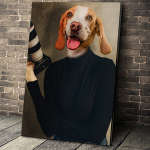 The Photographer Custom Pet Portrait - Noble Pawtrait