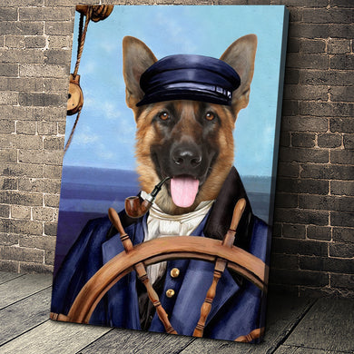 The Sailor Custom Pet Portrait Canvas - Noble Pawtrait