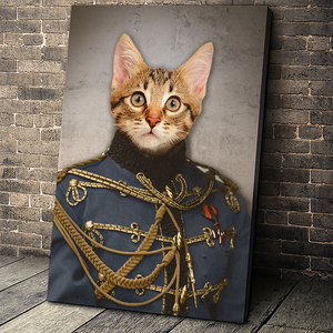 The Sergeant Custom Pet Portrait - Noble Pawtrait