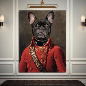 The Soldier Custom Pet Portrait - Noble Pawtrait