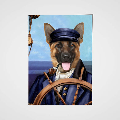 The Sailor Custom Pet Portrait Poster - Noble Pawtrait