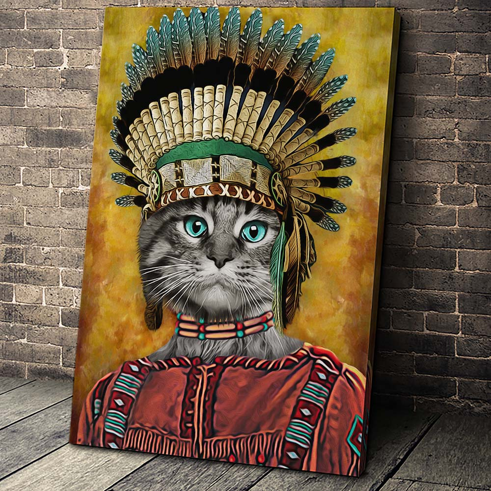 The Tribe Pet Custom Pet Portrait Canvas - Noble Pawtrait