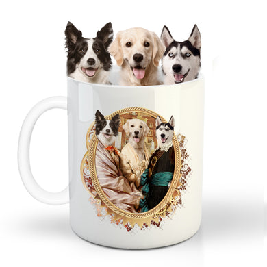 The Triplet Custom Pet Mug - Noble Pawtrait