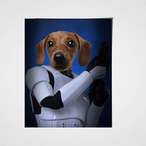 Troopaw Custom Pet Portrait Poster - Noble Pawtrait