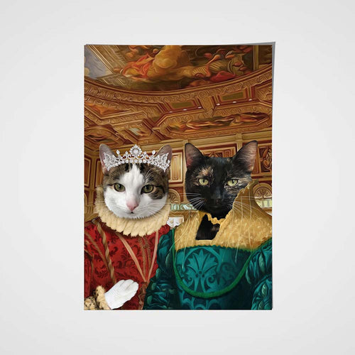 The Two Ladies Custom Pet Portrait Poster - Noble Pawtrait
